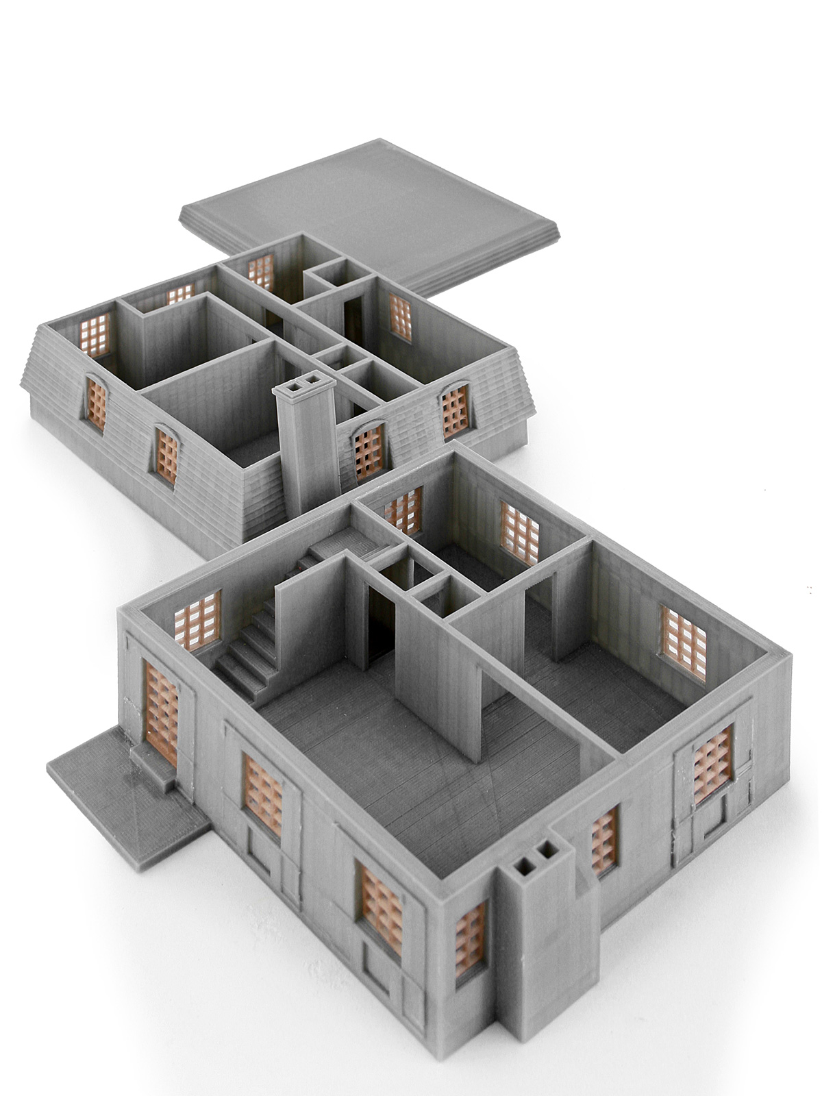 3d Printed Architectural Model Chateau 2 3 Degrees Askew
