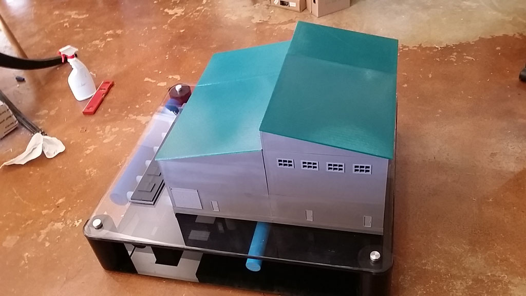 3-D Printed Pump House Model – Public Works Project – Houston, Texas